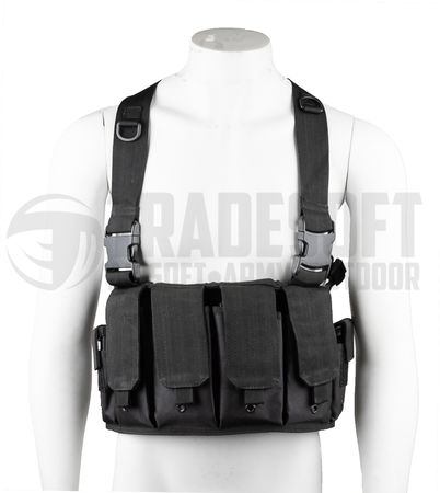 Mil-Tec Mag Carrier chest rig, musta